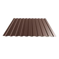 Профнастил С-8*1150*6000 толщ. 0,45мм RAL8017 (Коричневый шоколад)