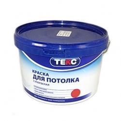 Краска ТЕКС в/д Профи для потолка супербелая (0,9л)