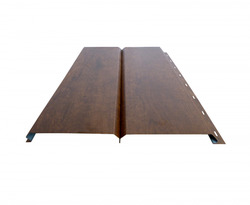 Сайдинг Lбрус-15х240 Полиэстер 25мкм 0,45 (RAL 8017 Коричневый шоколад)