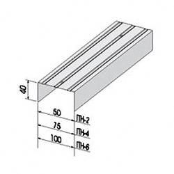 Профиль направляющий ПН-6 (100*40) 3м. усиленный 0,5